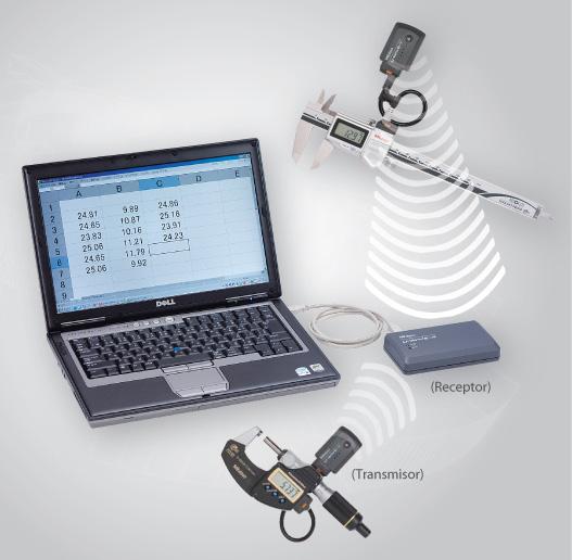 Transmisión inalámbrica desde Instrumentos de medición Mitutoyo