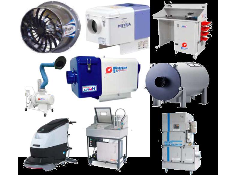 Sobre control de humos, polvos y neblinas industriales; colectores y otros dispositivos.