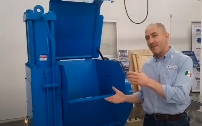 NEW! YUKEN machining chip compactor machine.