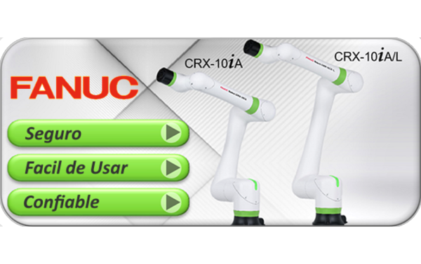 ¡Nuevo! Brazos colaborativos FANUC CRX