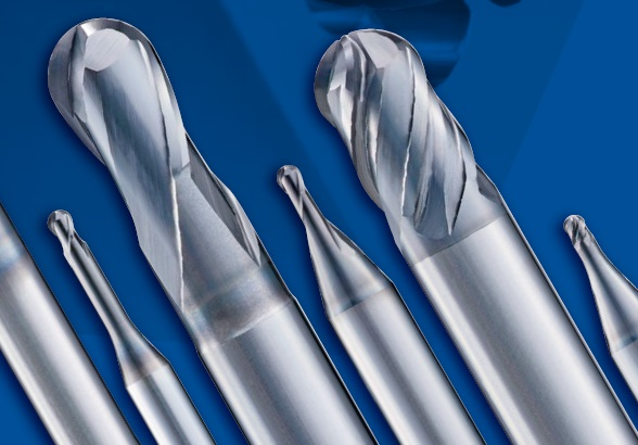 Carbide Ball End Mills f/High Hardness Steel AE BM-H / BD-H / LNBD-H (Cortadores Carburo Redondos p/Aceros Alta Dureza)