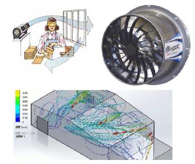 Creando flujo de aire en naves industriales durante el COVID19